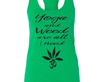 Yoga & Weed Tank Top