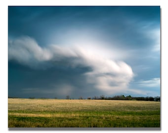 """Title """"Spring Storm One"""" Large Photography, Oklahoma, Home Decor, Office Decor, Photography, Travel, Wall Art, Acrylic, Metal, Fine Art"""