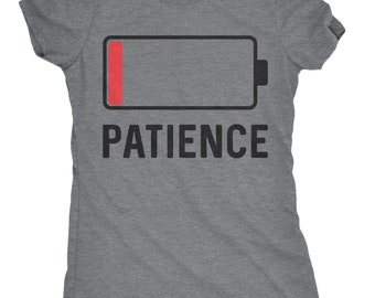 Low Patience Battery Shirt Women, Angry Mom Shirt Funny, New Mom T Shirt, Funny T Shirt For Mom, Stressed Out Moms Gift