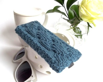 Blue-Grey Glasses Case. Eyeglasses Case. Sunglasses Case. Reading Glasses Case. Eyeglasses Holder. Sunglasses Holder.