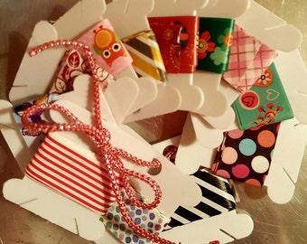 Washi tape sample, 12 count, scrapbook, junk journal, tags, embellishments
