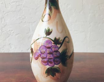 Barcelona Grape Hand Painted Vase