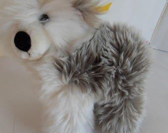 Steiff dog Bobtail button flag made in Germany 2339