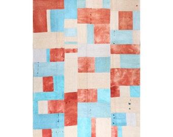 Patchwork Kilim Made from Vintage Remnants