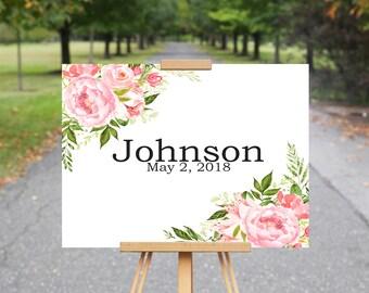 Wedding Guest Book Alternative, Blush Pink Flowers, Pink Wedding Flower Decor