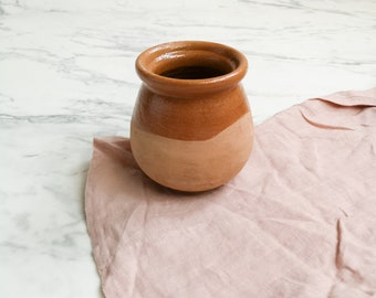 Vintage ceramic stone vase | Ceramic utensil holder | Utensil jar | Flower vase