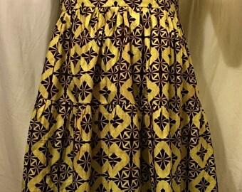 African Print Summer Dress