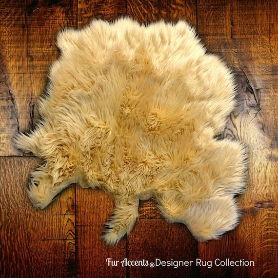 Shaggy Throw Rug: Faux Fur Shag Sheepskin Throw Rug Shaggy Soft Thick