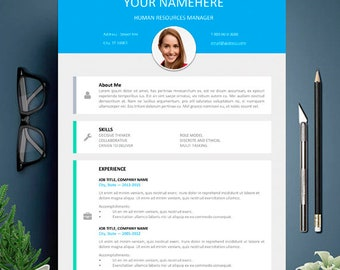 Modern CV Template for Word, Modern Resume Design, Template for Word and Pages, Modern Resume, modern & letter resume template,Cover Letter