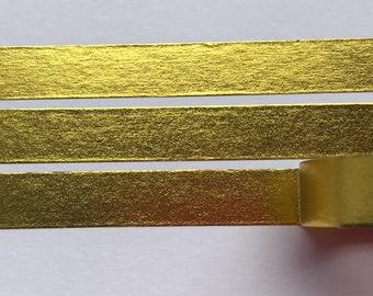 Yellow gold foil washi tape, MT, gold foil masking tape washi, 15 mm x 10 m,