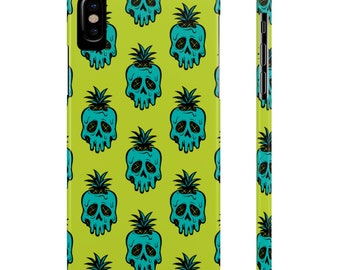 Electric Poison Pineapple By Jeff Granito Slim Phone Case