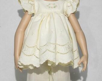 16 inch Kish Dress Cream Colored Eyelet