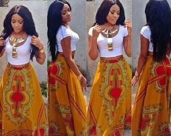African Skirt, Dashiki Skirt, Ankara Print Dashiki Skirt For Women