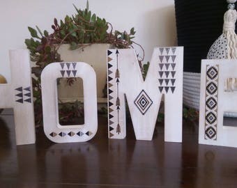 Home decor- wooden 'HOME' decoration