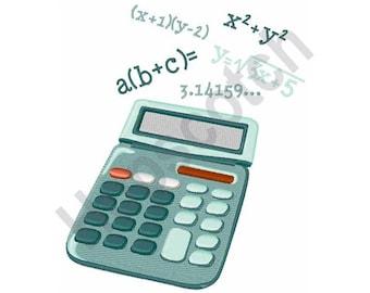 Math Equations - Machine Embroidery Design - 5 X 7 Hoop, Calculator, Algebra, Mathematics