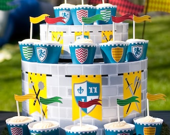 Medieval Knights Castle Dragon Birthday PRINTABLE Party Collection - You Customize EDITABLE TEXT >> Instant Download | Paper and Cake
