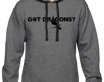 Men's GOT Dragons Game Of Thrones Pullover Hoodie Charcoal Hooded Sweatshirt