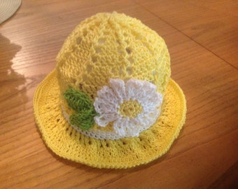 Kids 100% cotton sun hat