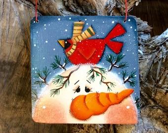 NEW 2015 Charming Snowman Ornament