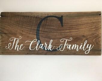 Monogram board, reclaimed barn wood, rustic, wedding, anniversary
