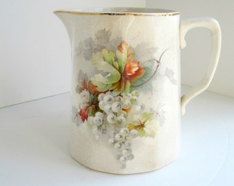 Antique KT&K Pitcher , Knowles Taylor and Knowles , Grape Pattern 1876
