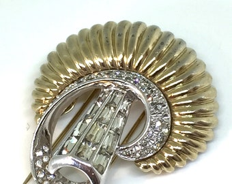 Boucher numbered deco pin brooch