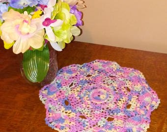 Variegated Seashell-Patterned Doily