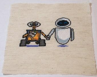Wall-E and Eve Cross Stitch