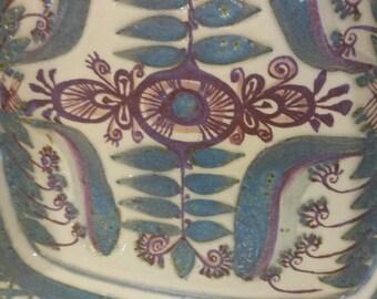 Mid Century Royal Copenhagen Fajance Marianne Johnson Tenera Dish Faiance Hand Painted Pottery