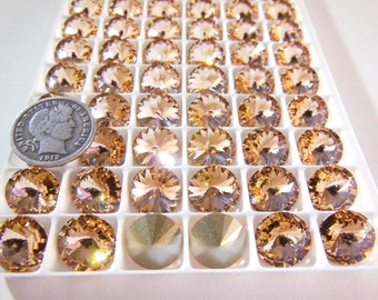 Swarovski 1122 Light Peach 47ss Crystal Rivoli Stones Foiled