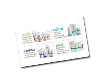Rodan Fields Business Card Back - Regimens