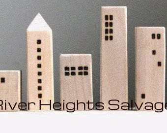 Wooden houses,Small wood house,Natural wood decoration,Modern home decor,Miniature village  Gifts Trending Popular Best Selling