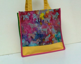 20% OFF for this small multicolor and yellow handbag