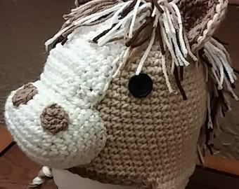 Crochet Pony Cap