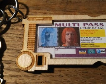 Multi Pass Keychain - The Fifth Element Leeloo Dallas laser cut