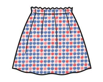 Apple Skirt _ Fruits Collection _ Model of skirt Carlotta