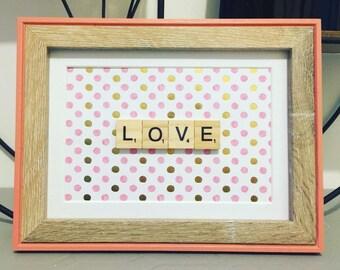 Love Scrabble frame