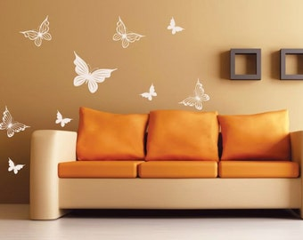 Wall decal Butterflies, wall stickers for bedroom, living rooms, kitchens, kid rooms, quality vinyl stickers, vinyl decal