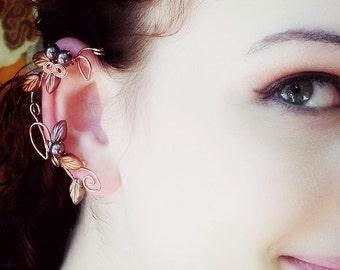 Art Nouveau Ear Cuff Wrap Autumn Cornucopia Ear Dreams Ear Climber Ear Jacket No Piercing Nickel Free Earrings