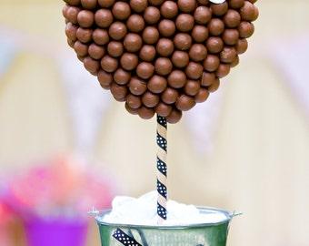Chocolate Gift, Sweet Tree Malteser Heart, Chocolate Gift, Chocolate Bouquet, Romantic Gift, Chocolate Tree, Perfect Gift, Sweet Tree