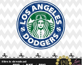 Los Angeles Dodgers coffee svg,png,dxf,shirt,jersey,baseball,college,university,decal,proud mom,disney,softball,astros,new york,starbucks,