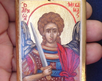 miniature.Saint archangel Michael .angel michael.byzantine icon.orthodox.greek icon.hand painted.christian icon.gift.archangel michael