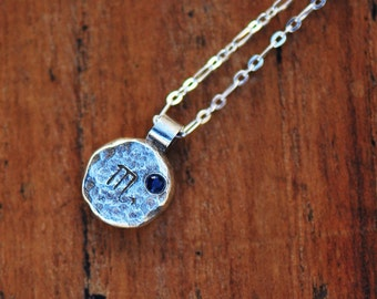 Element Scorpio Zodiac Necklace- Sterling Silver