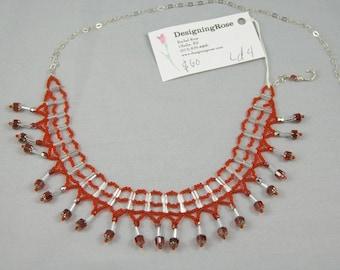 Ruby ladder st. adjustable necklace