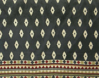 "Printed Black Fabric, Dress Material, Quilting Fabric, Home Accessories, 43"" Inch Cotton Fabric By The Yard ZBC8053B"