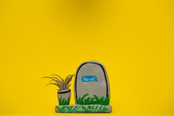 YOU UP? GRAVESTONE planter