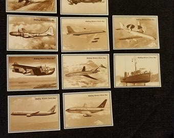 Boeing 75 Year Anniversary, Sepia Photographs, Vintage Boeing Aircraft Cards, Pilot Gift, Aircraft Photos, Stratocruiser, 757 Twin Jet Photo