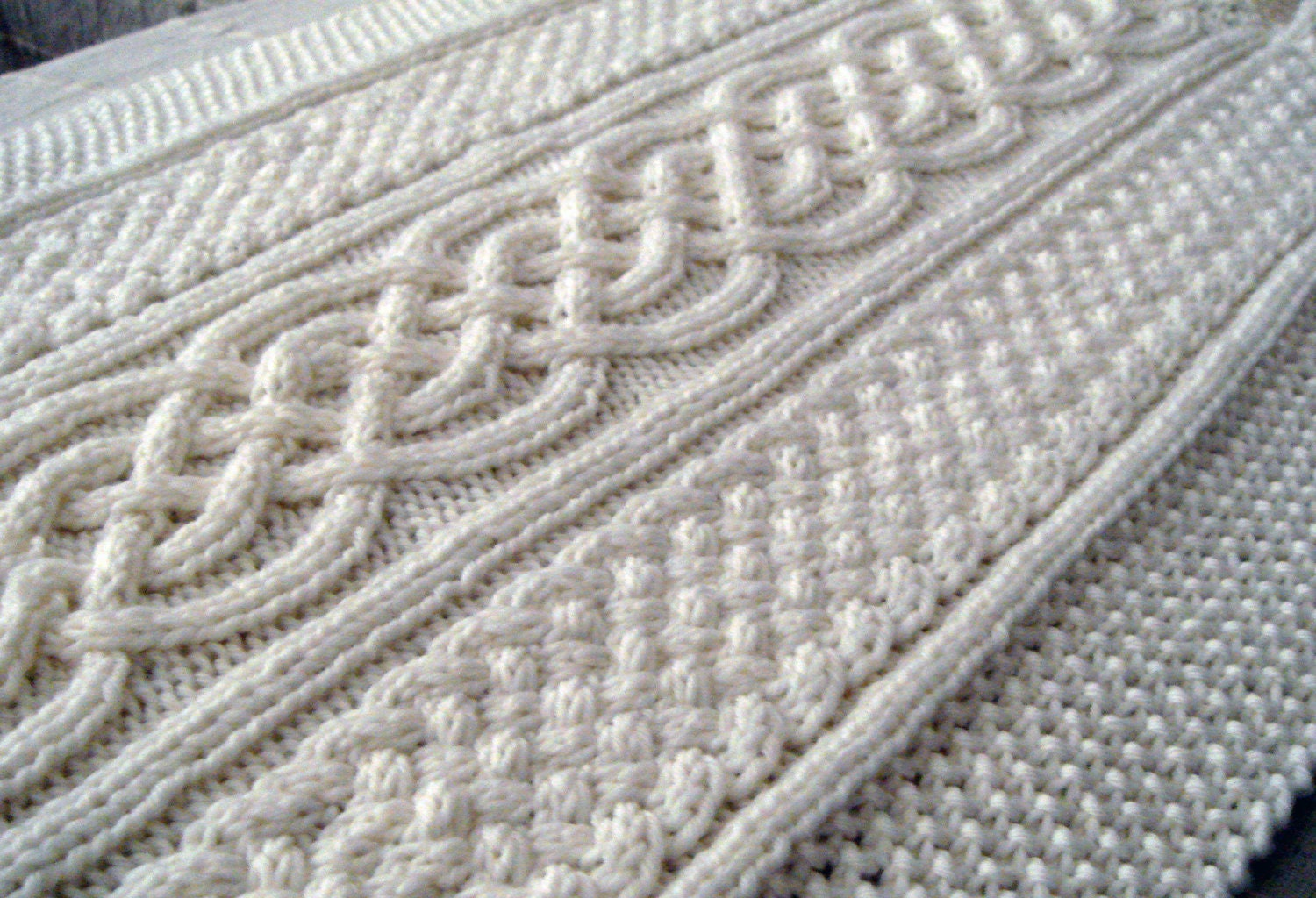 Celtic blanket knitting pattern celtic cable design Celtic