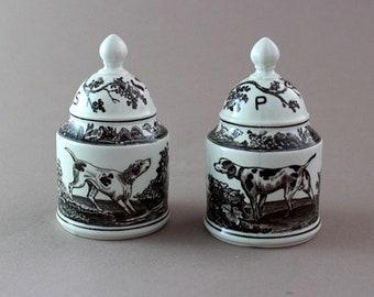Villeroy & Boch salt and pepper shakers, Vintage spice shakers, Anjou