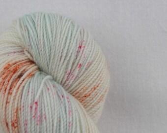 Hand-dyed yarn - sock yarn - superwash - merino - dyed-to-order - speckles - FRAIS
